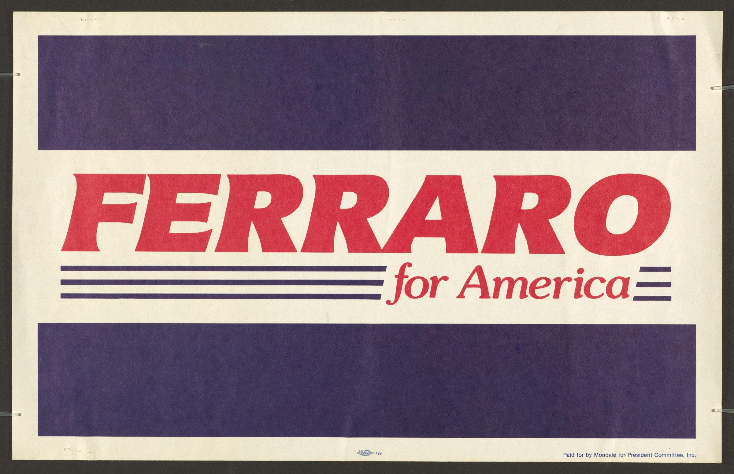 Ferraro For America Poster Schlesinger
