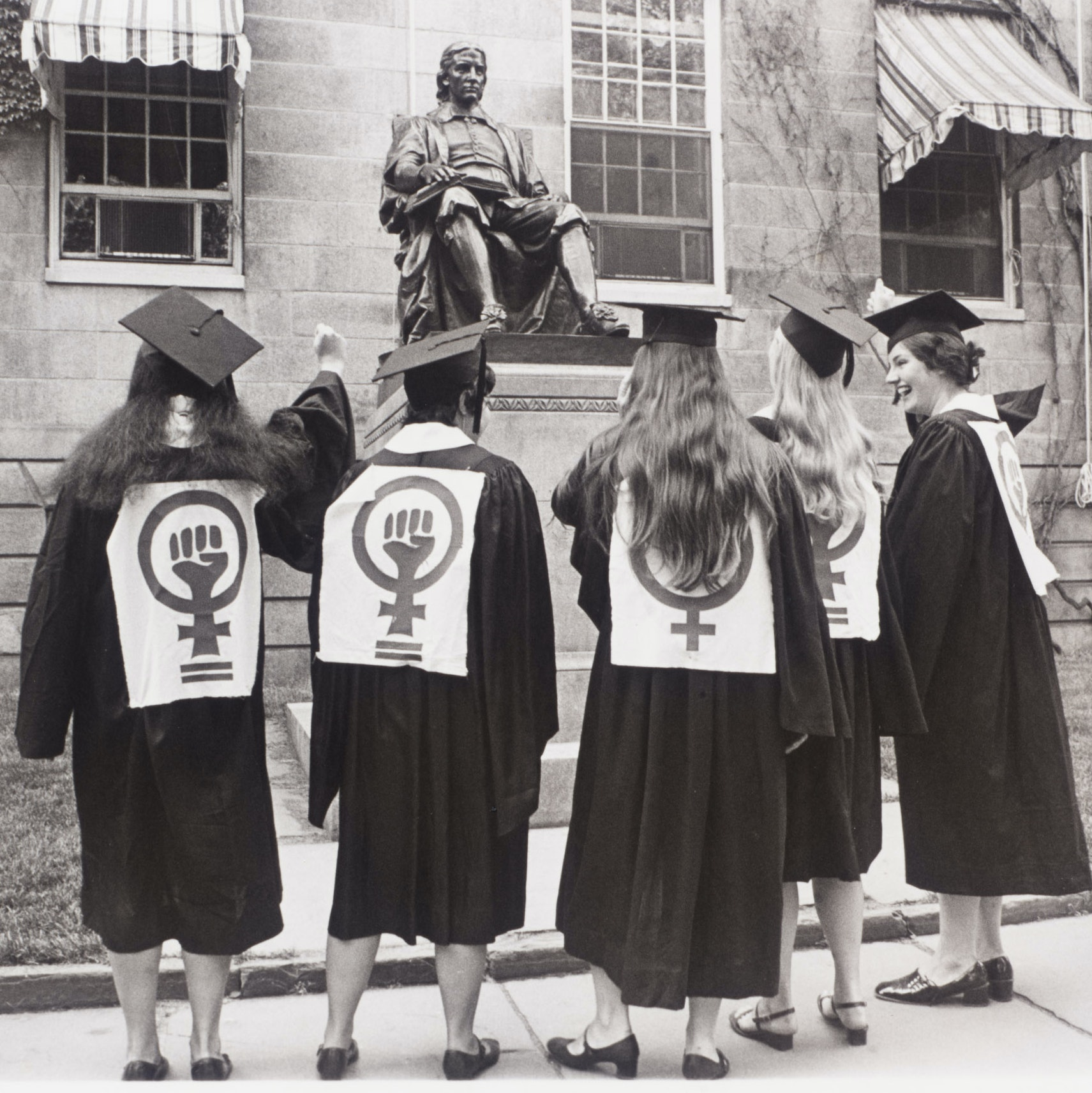Equal Access For Women protest at Commencement