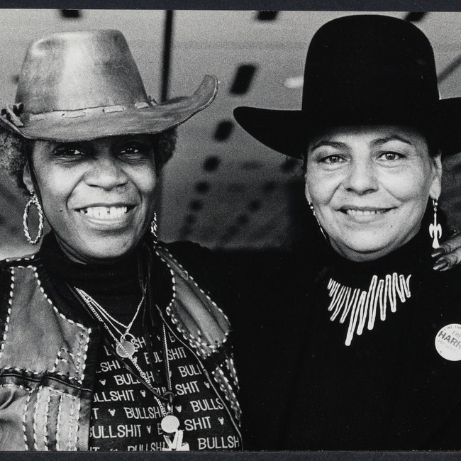 Flo Kennedy with LaDonna Harris