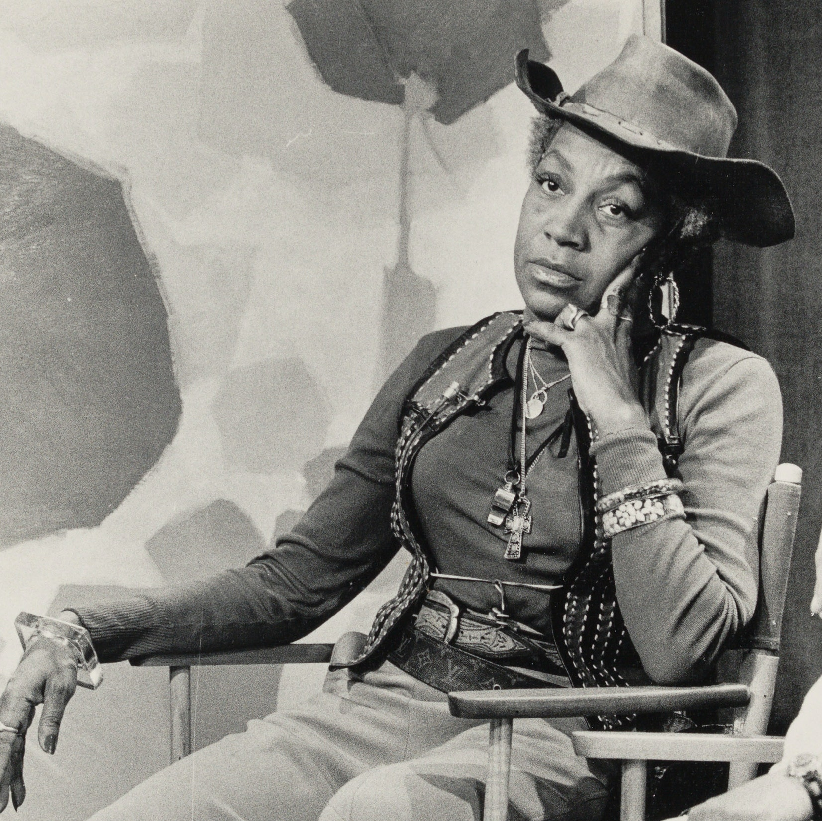"Flo Kennedy seated at ""Outreach Women"" TV Program"