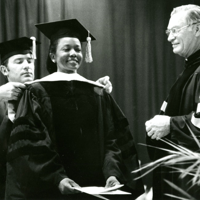 Mildred Jefferson receiving honorary degree from Allentown College