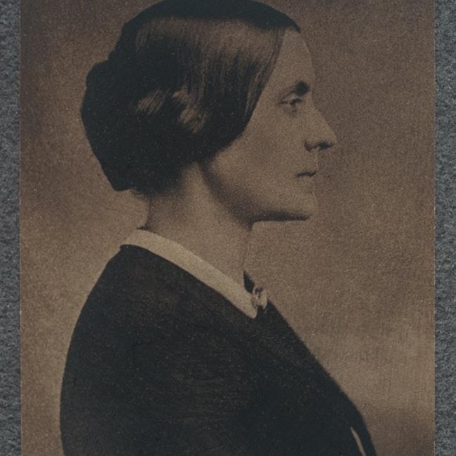 Side profile portrait of Susan B. Anthony