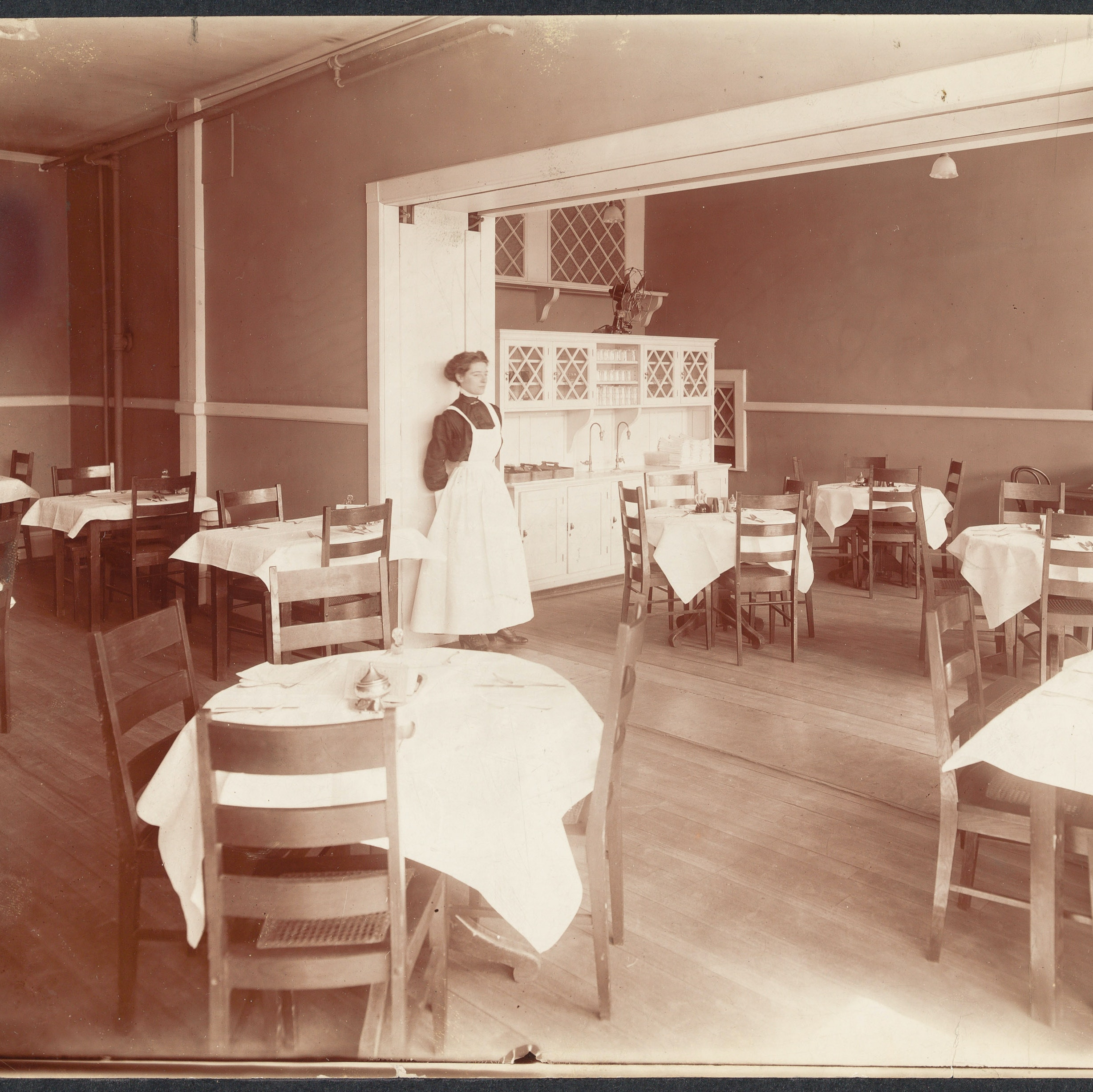 Interior view of the WEIU lunch room