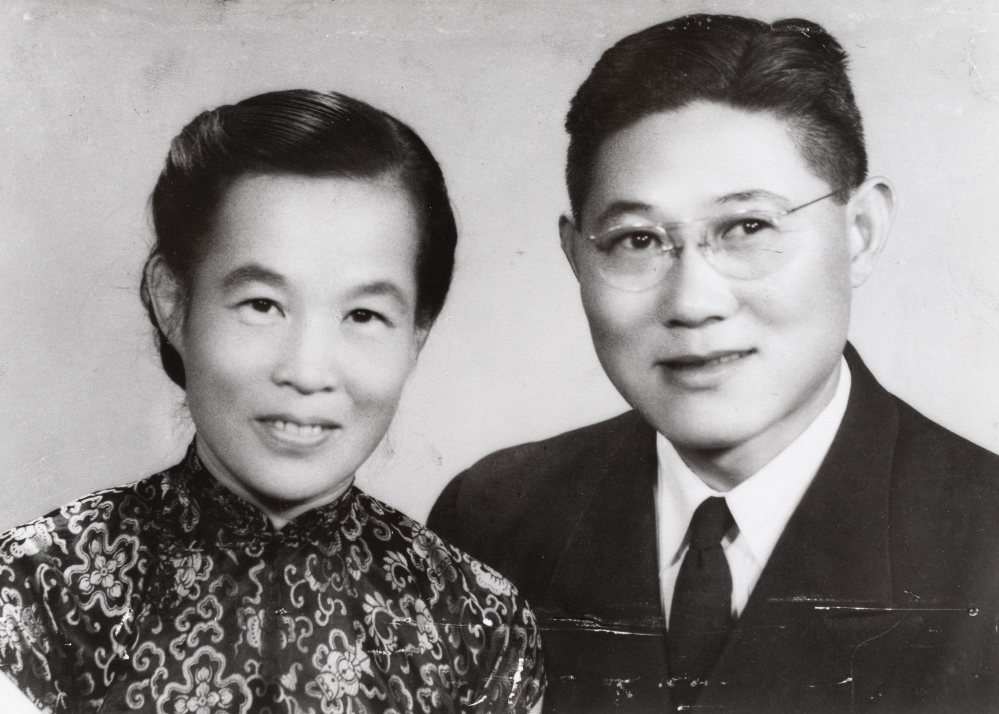 Black & White Portrait of Rev. & Mrs. Quentin K.Y. Huang