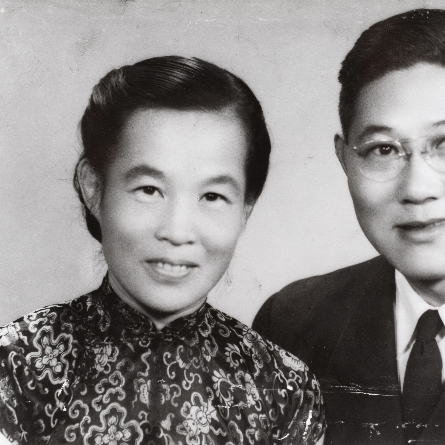 Black & White Portrait of Rev. & Mrs. Quentin K.Y. Huang