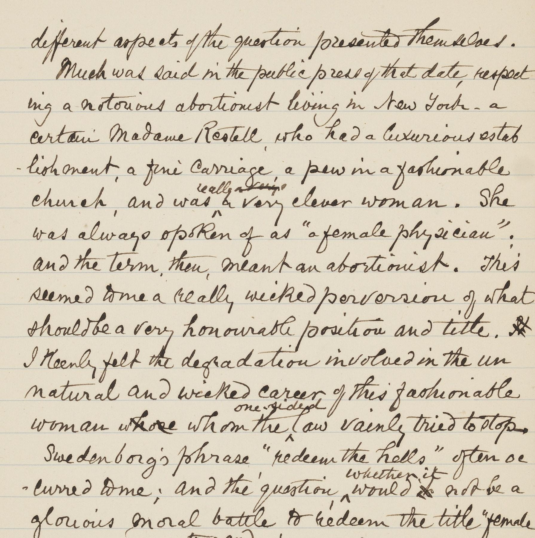 Letter from Elizabeth Blackwell