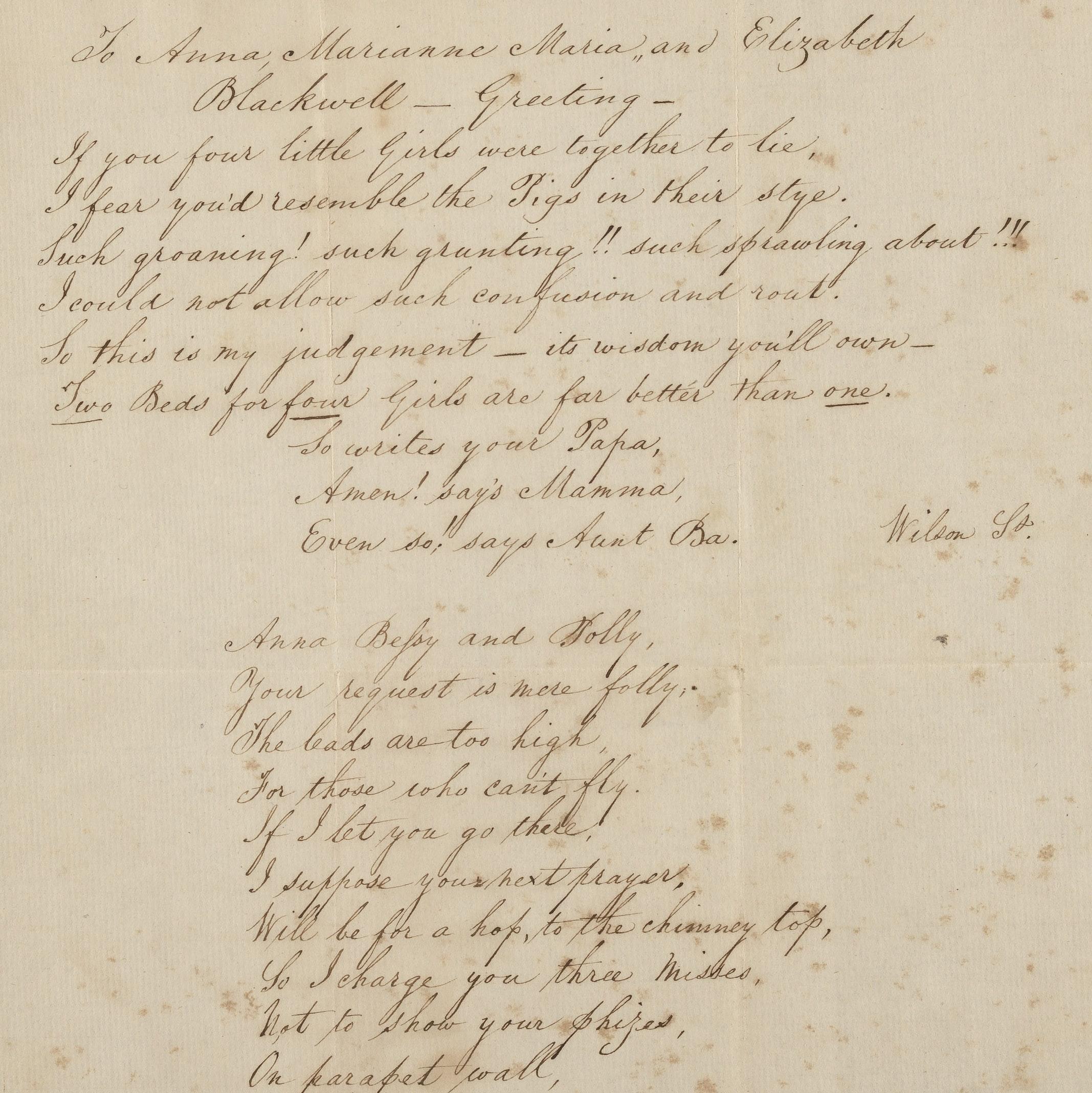 Poem by Samuel Blackwell
