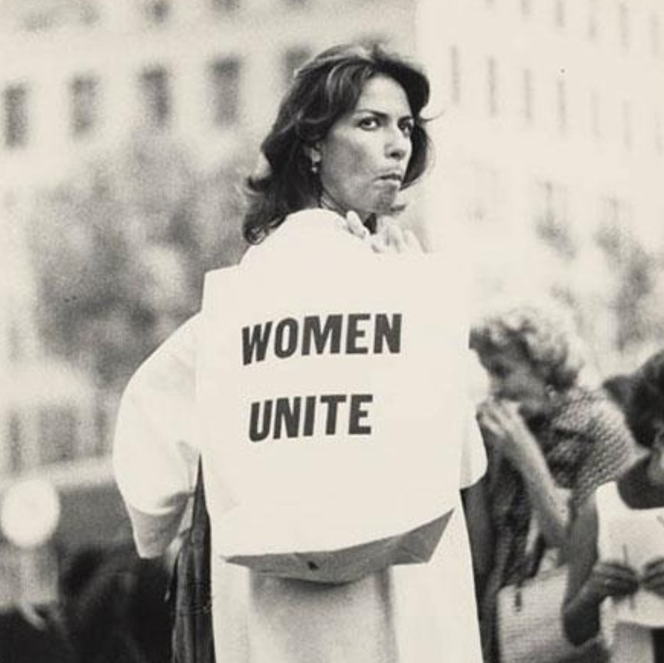 [Women's Strike for Equality March. 1970. Photo by Bettye Lane, courtesy of Schlesinger Library, Radcliffe Institute, Harvard University]