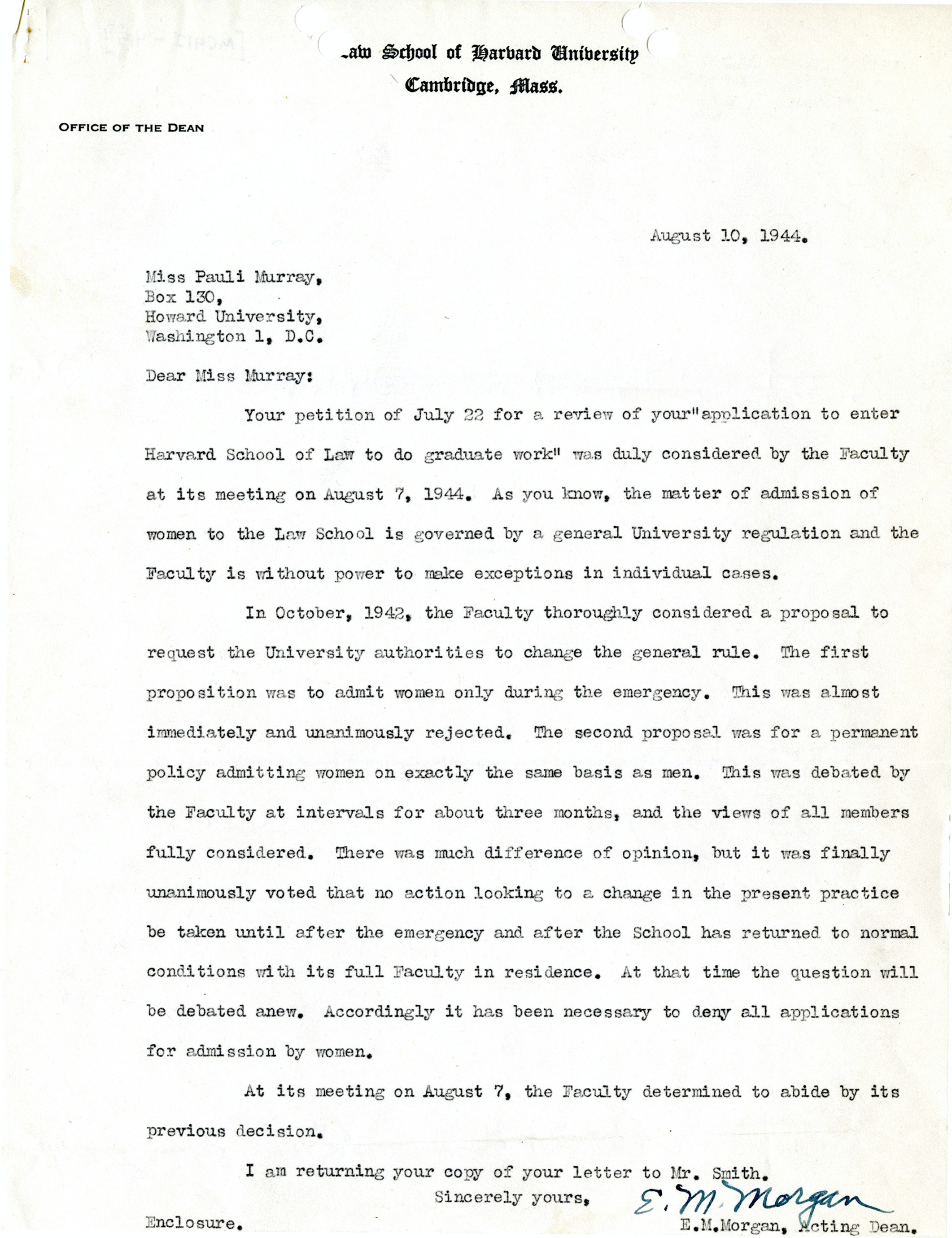 Letter to Pauli Murray