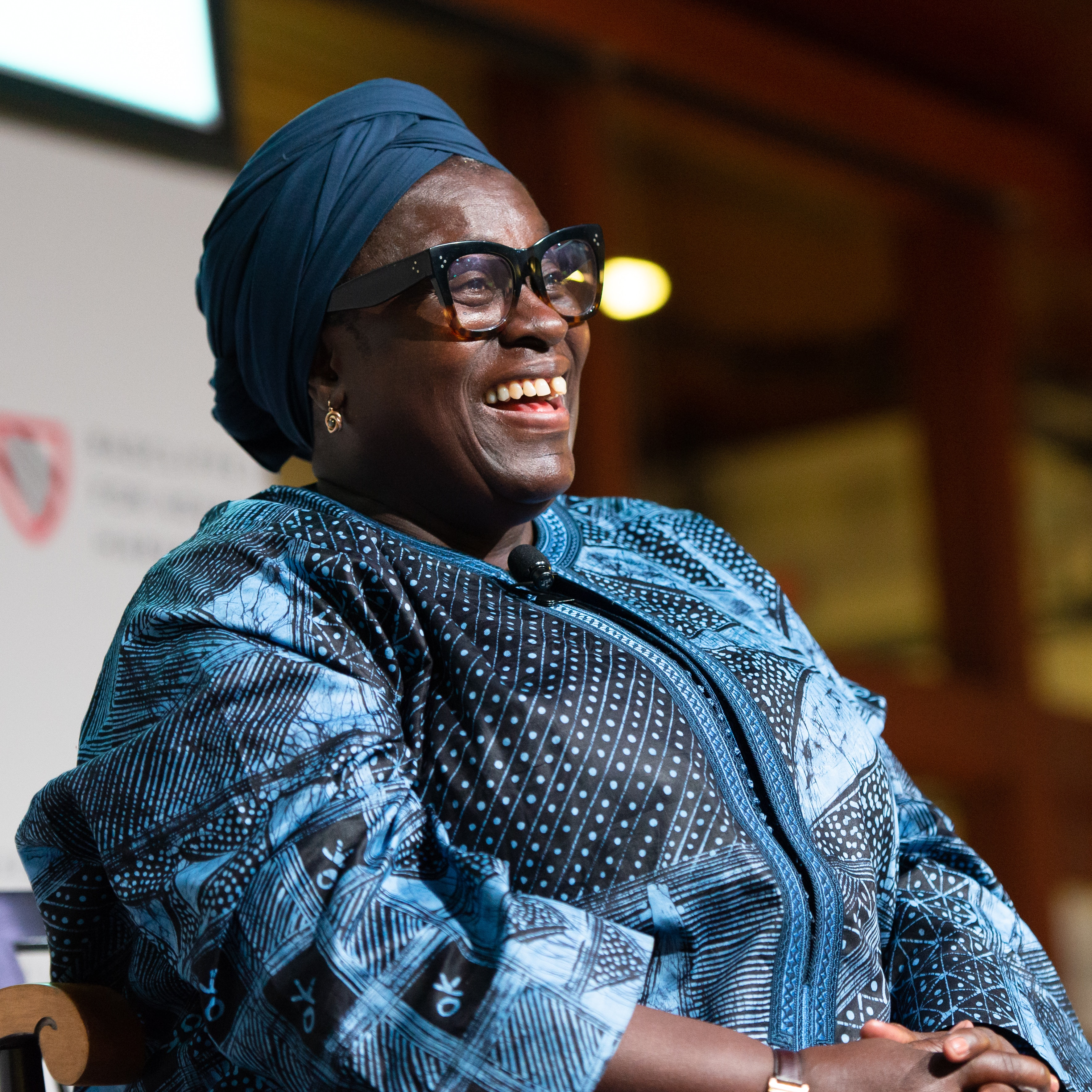 """Ofeibea Quist-Arcton at """"(Why) Reporting the Voices of African Women and Girls Matters""""."""
