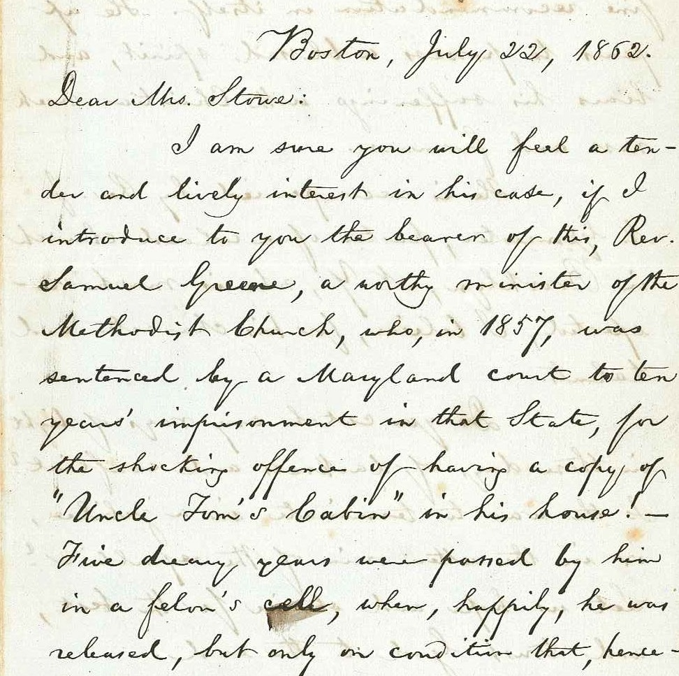 Letter from William Lloyd Garrison