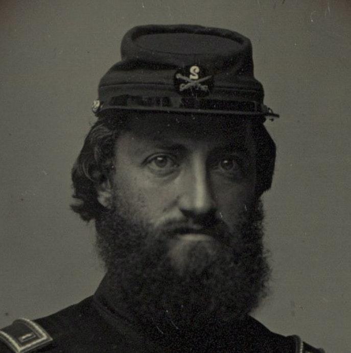 Daguerreotype of Charles Barnard Fox in uniform