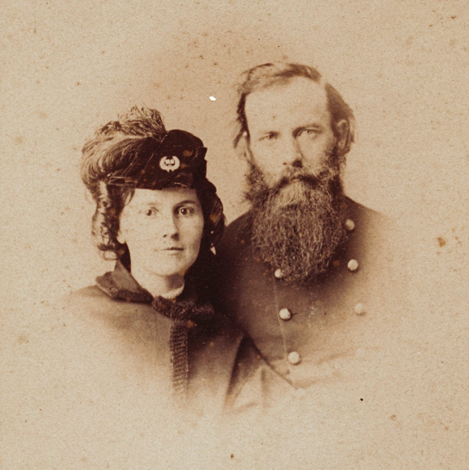 Portrait of James and Frances Beecher