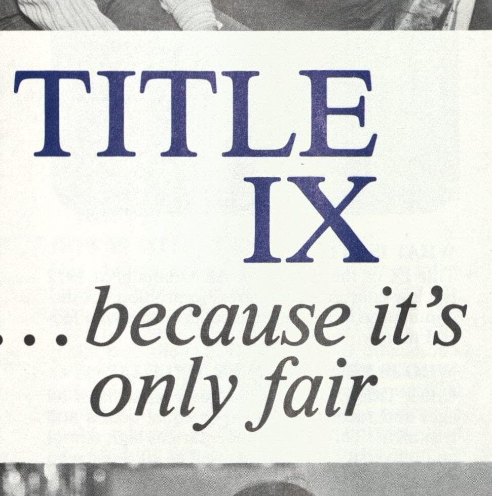 Brochure on Title IX