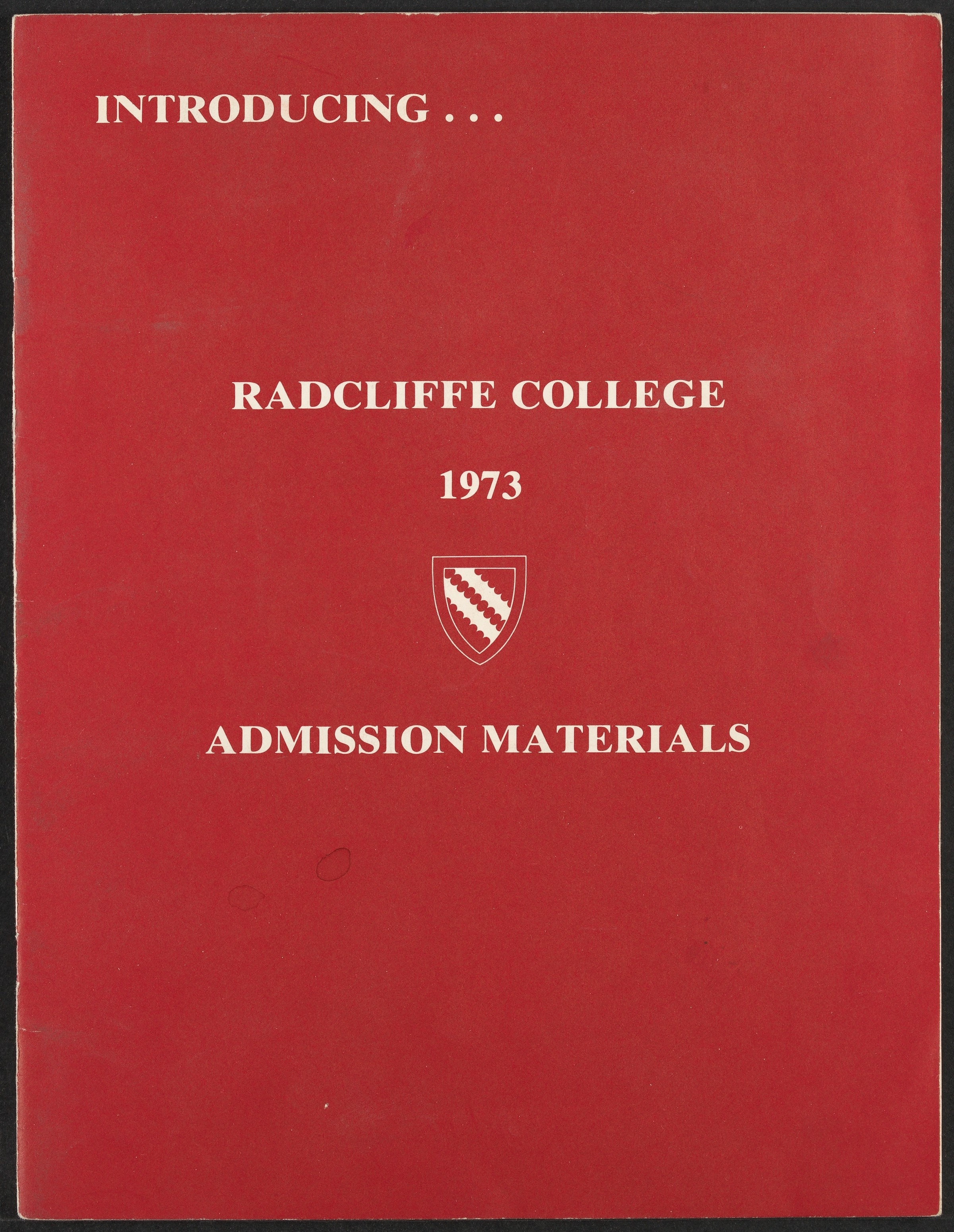 Radcliffe College Archives Admissions Brocheres