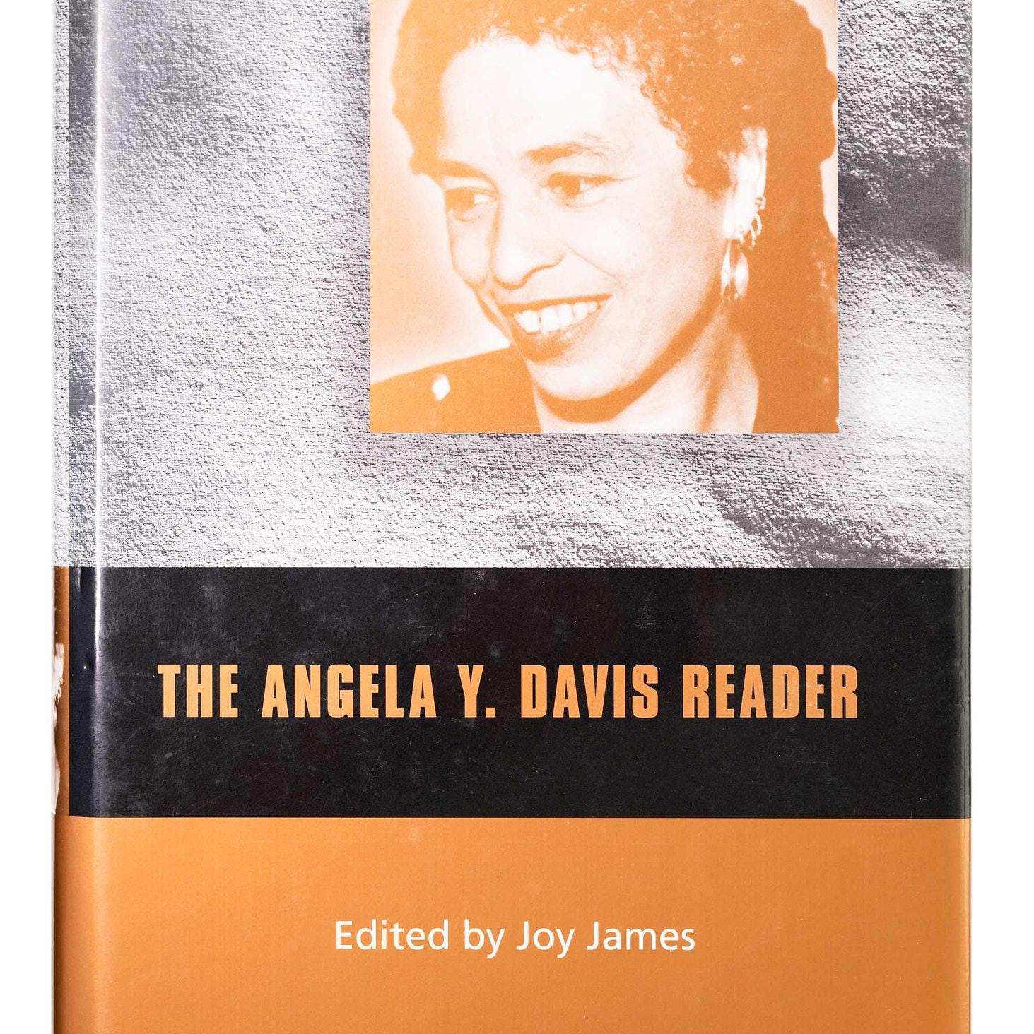 Angela Y. Davis Book cover with headshot of Davis tinted orange