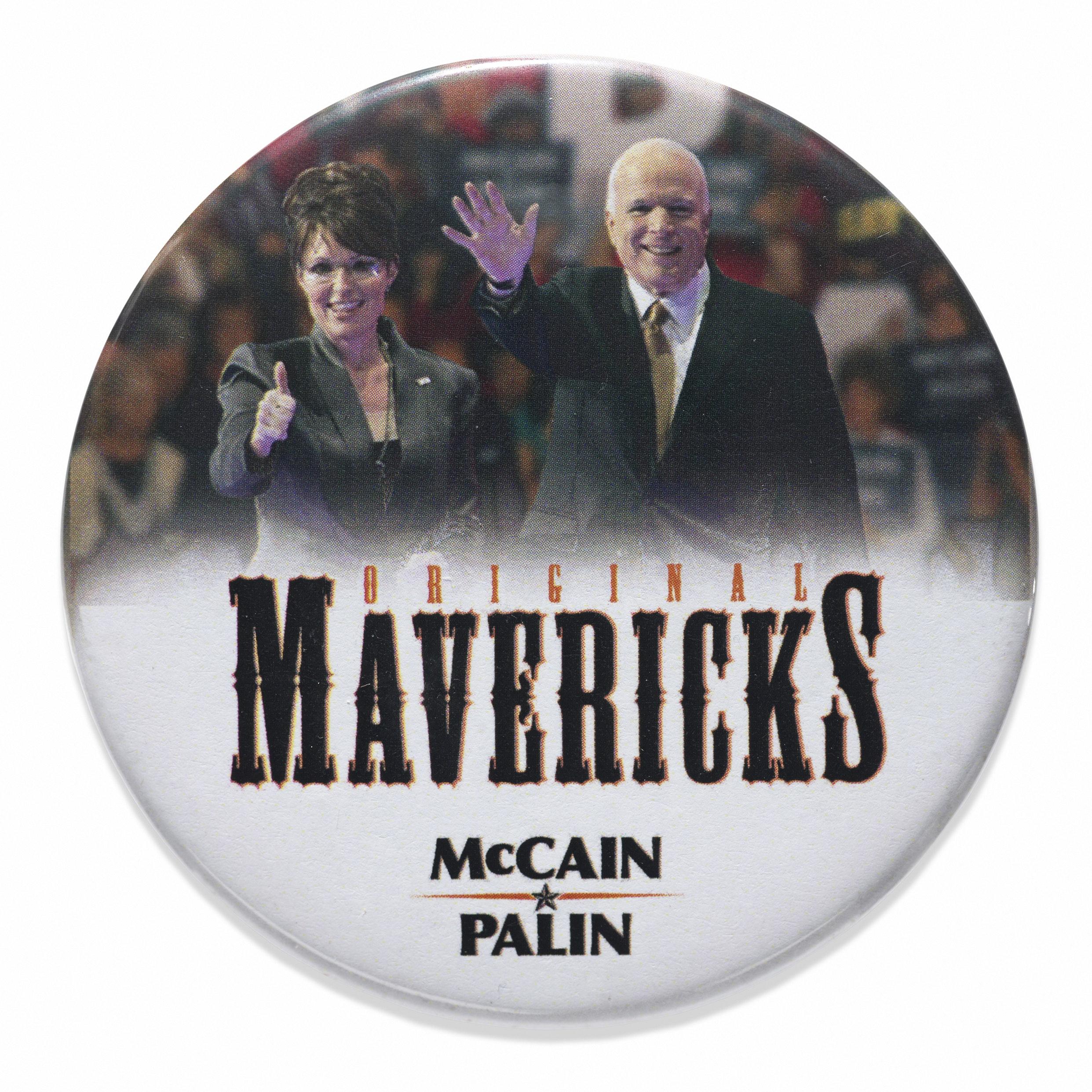 Palin Mccain Button Schlesinger Library Memorabilia Collection