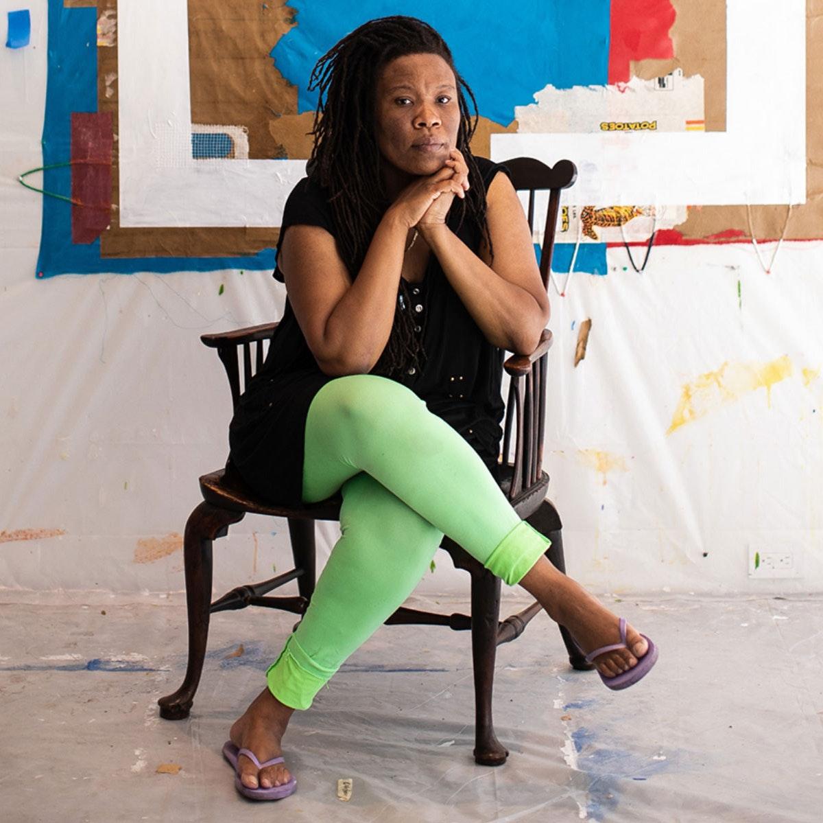 Image of Tomashi Jackson in her studio