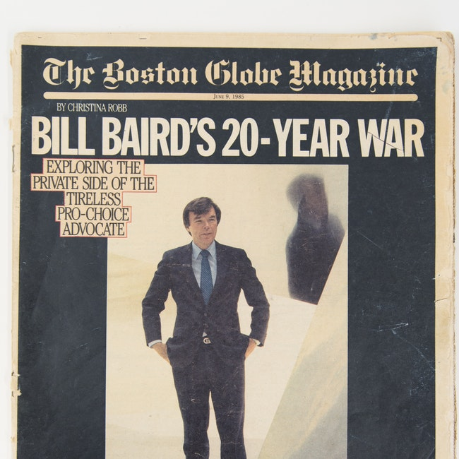 Bill Baird on the cover of the Boston Globe Magazine
