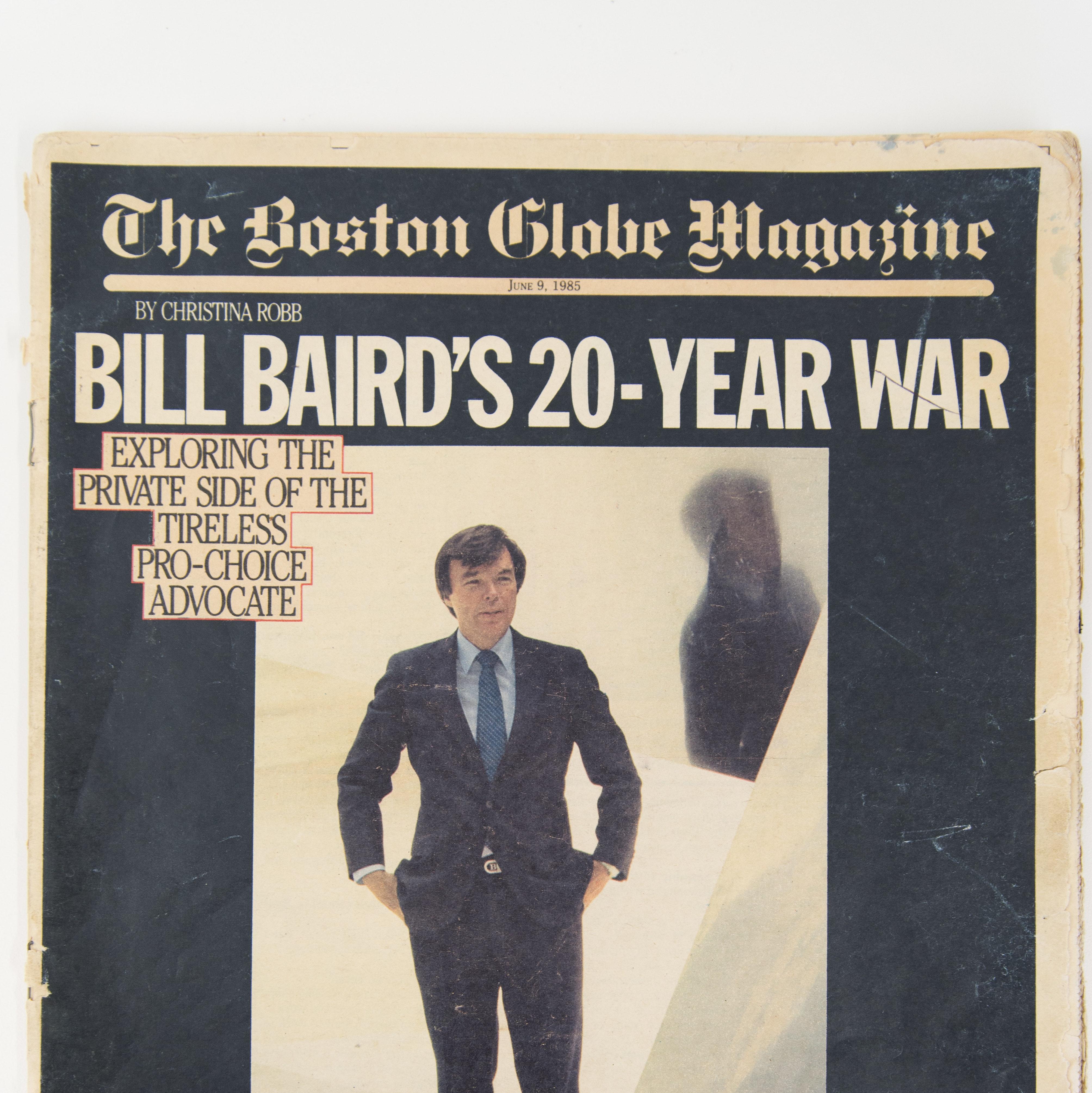Bill Baird on the cover of the Boston Globe Magazine