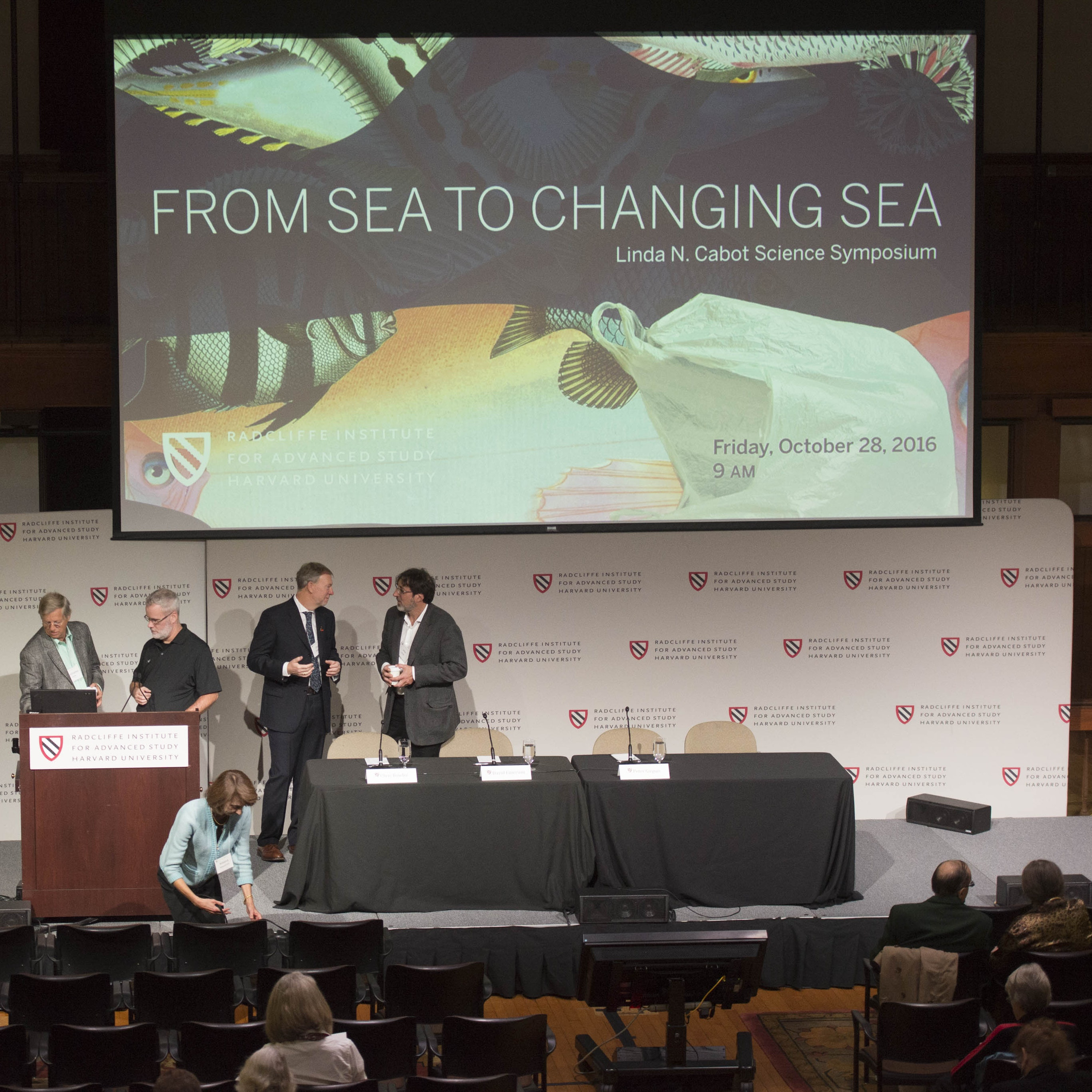 """Radcliffe's """"From Sea to Changing Sea"""" science symposium."""