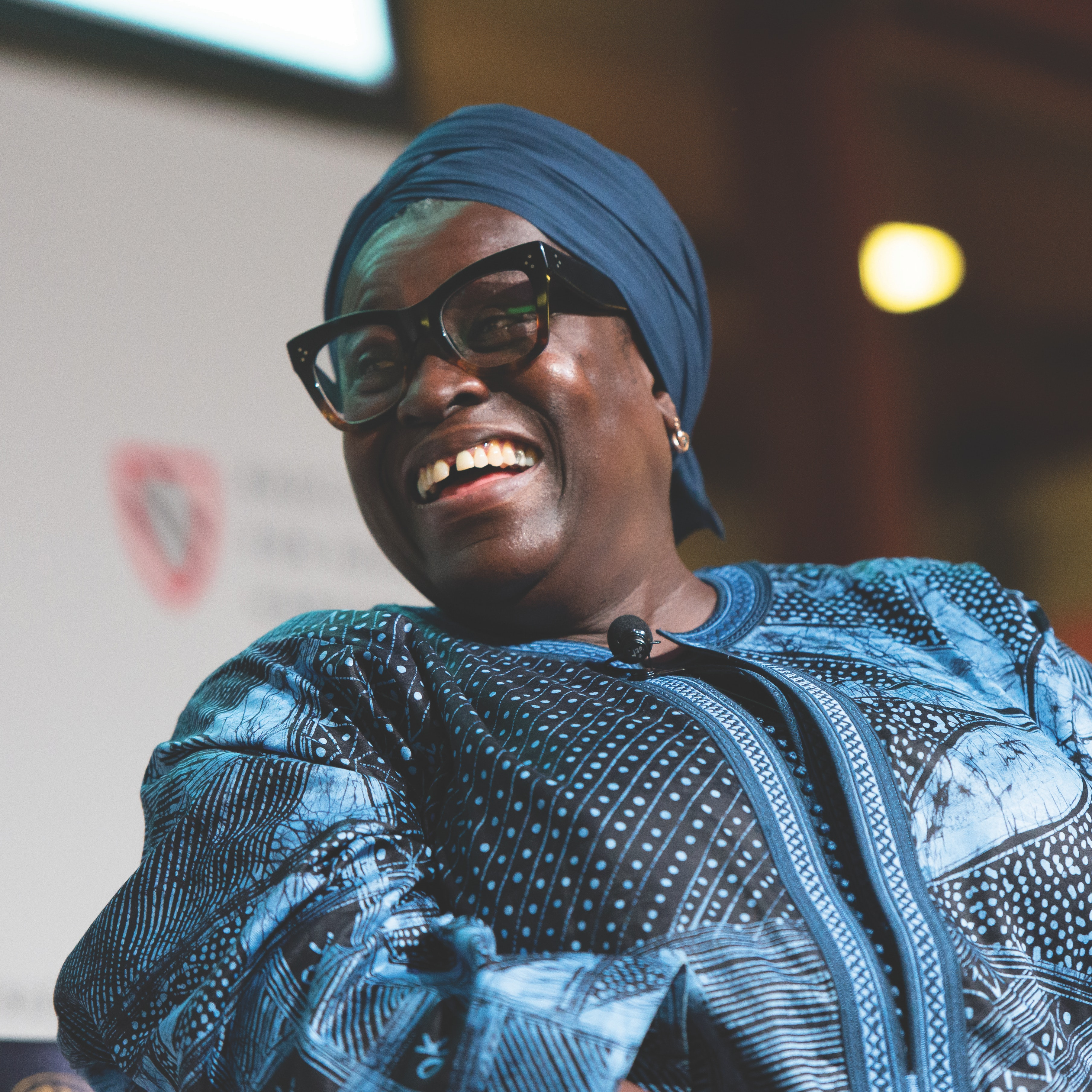 Ofeibea Quist-Arcton giving the Rama S. Mehta Lecture
