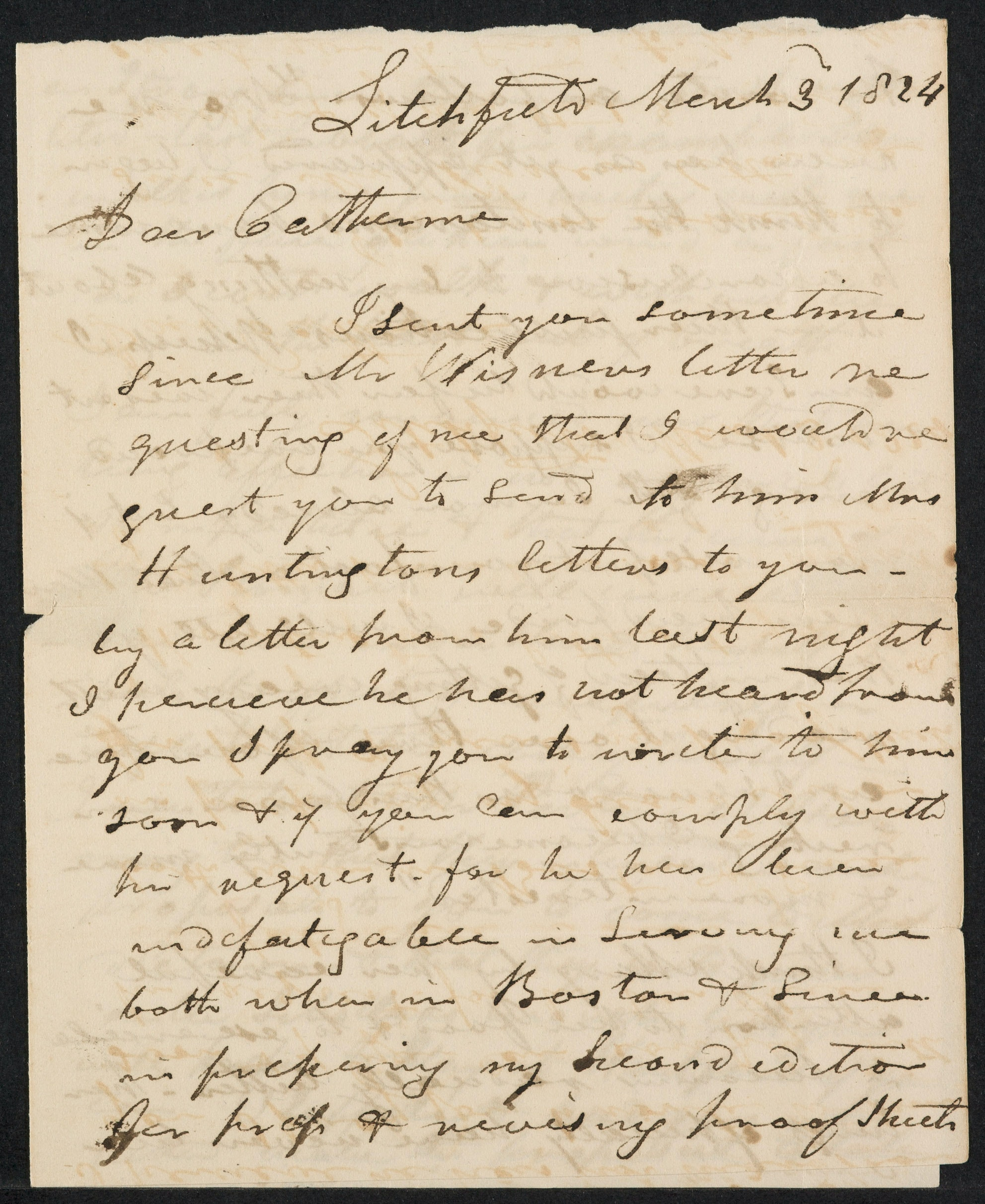 Letters to Catharine Beecher, March 1824–1825