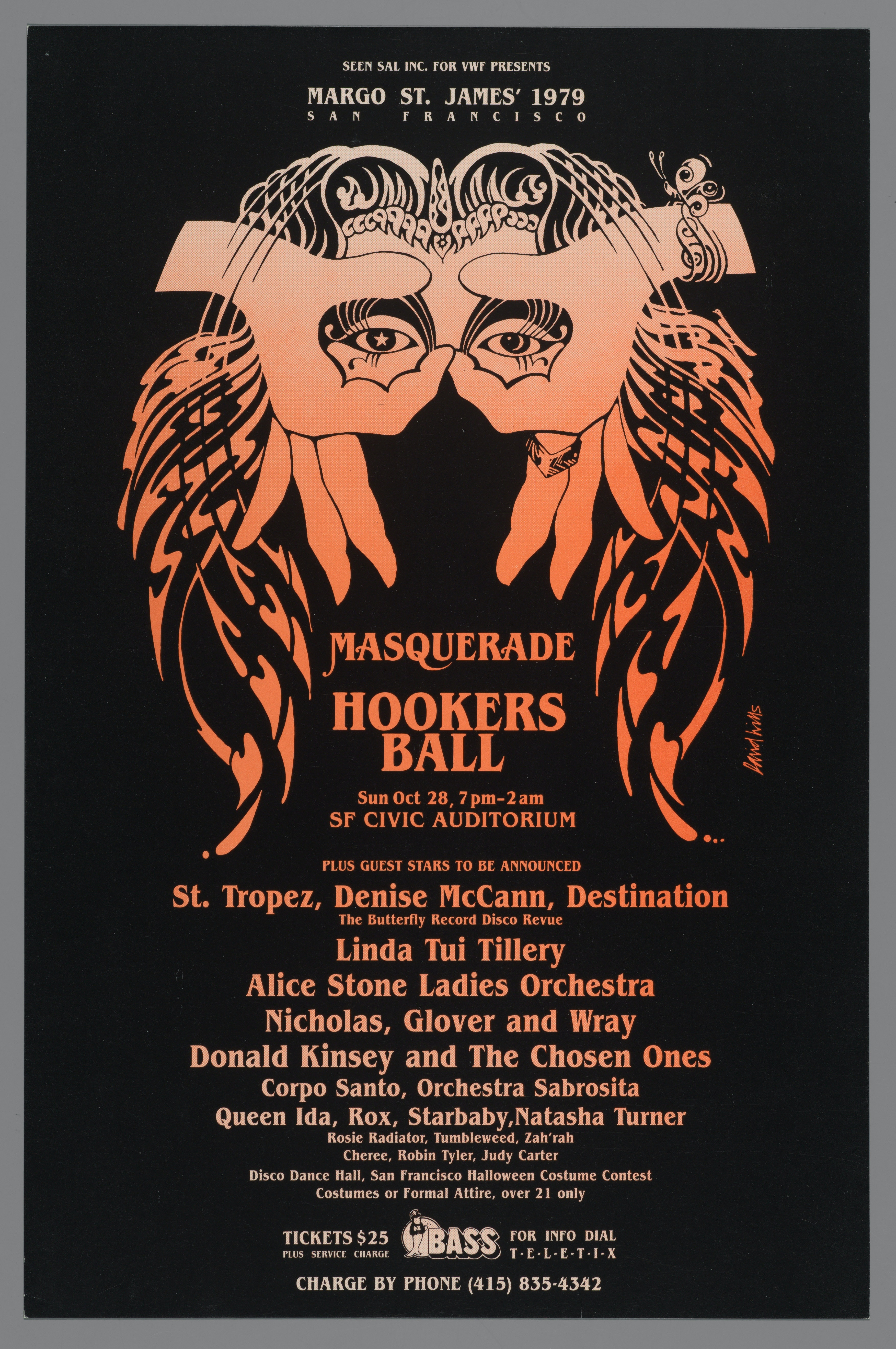 Poster for Margo St. James's 1979 San Francisco Masquerade Hookers Ball