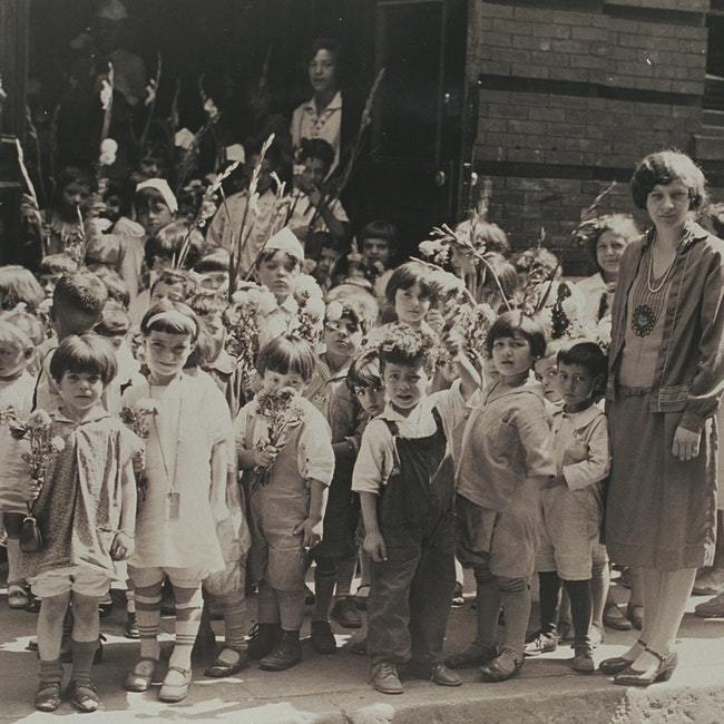 Group of children outside North Bennet Street School