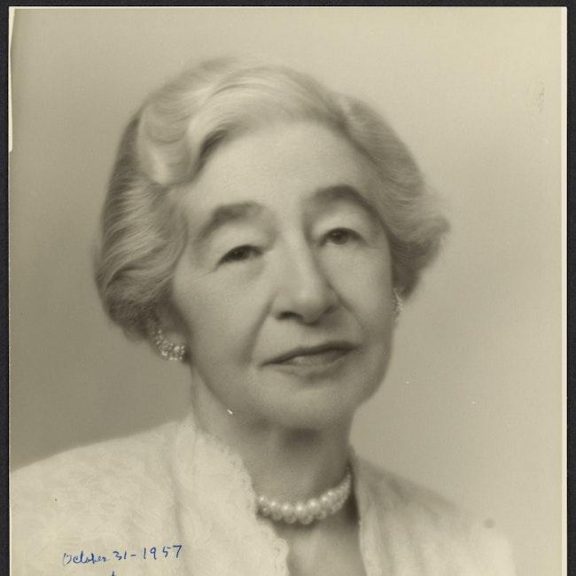 Formal portrait of Miriam Van Waters