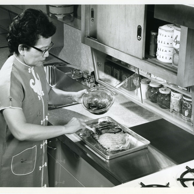 Grace Zia Chu during a cooking demostration at the Louisiana State Fair