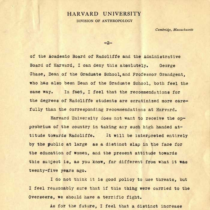 January 20, 1931 letter from Dr. Alfred M. Tozzer to Dr. Thomas Barbour, page 2_courtesy of Harvard University Archives