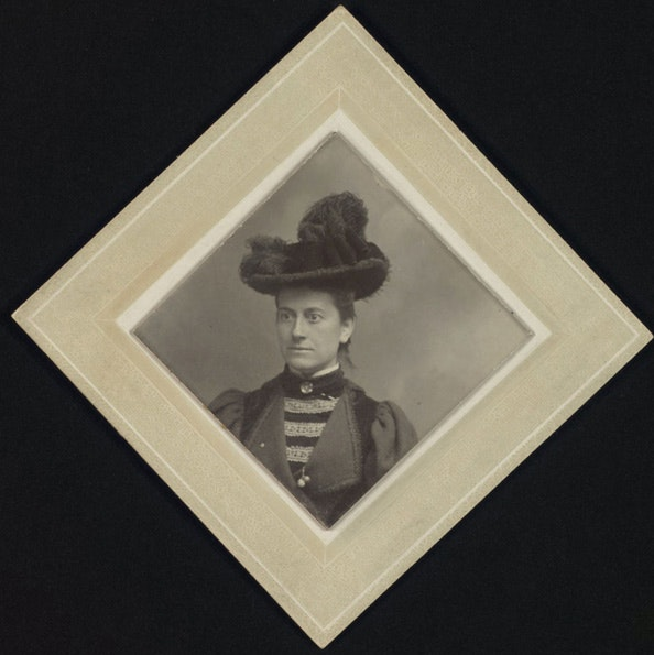 Mrs. Williamina Paton Fleming, Curator of Astronomical Photographs, ca. 1888–1911_courtesy of Schlesinger Library