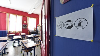 Empty classroom by JeanLuc