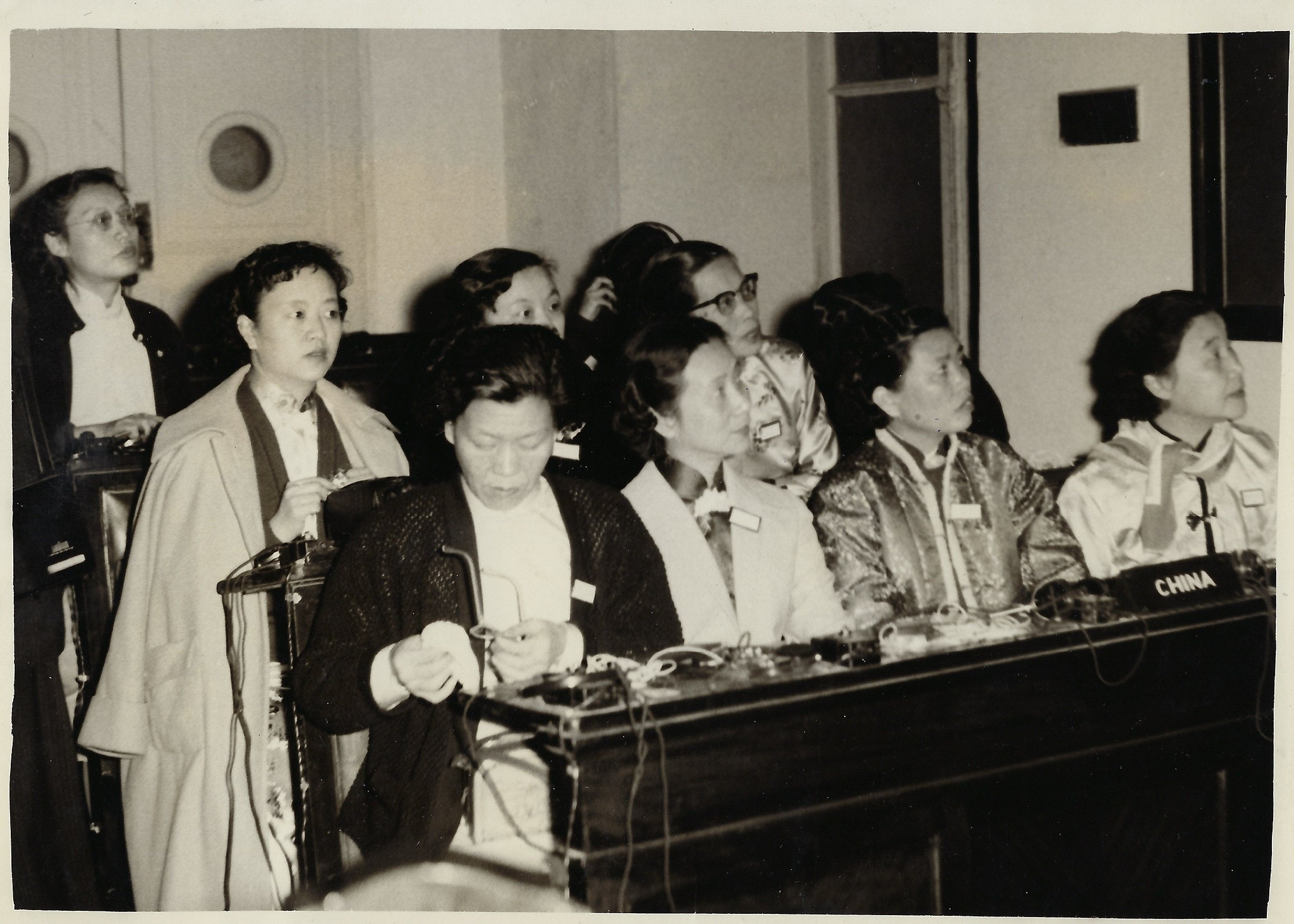 Women seated in lecture hall at the Afro-Asian Women's Conference