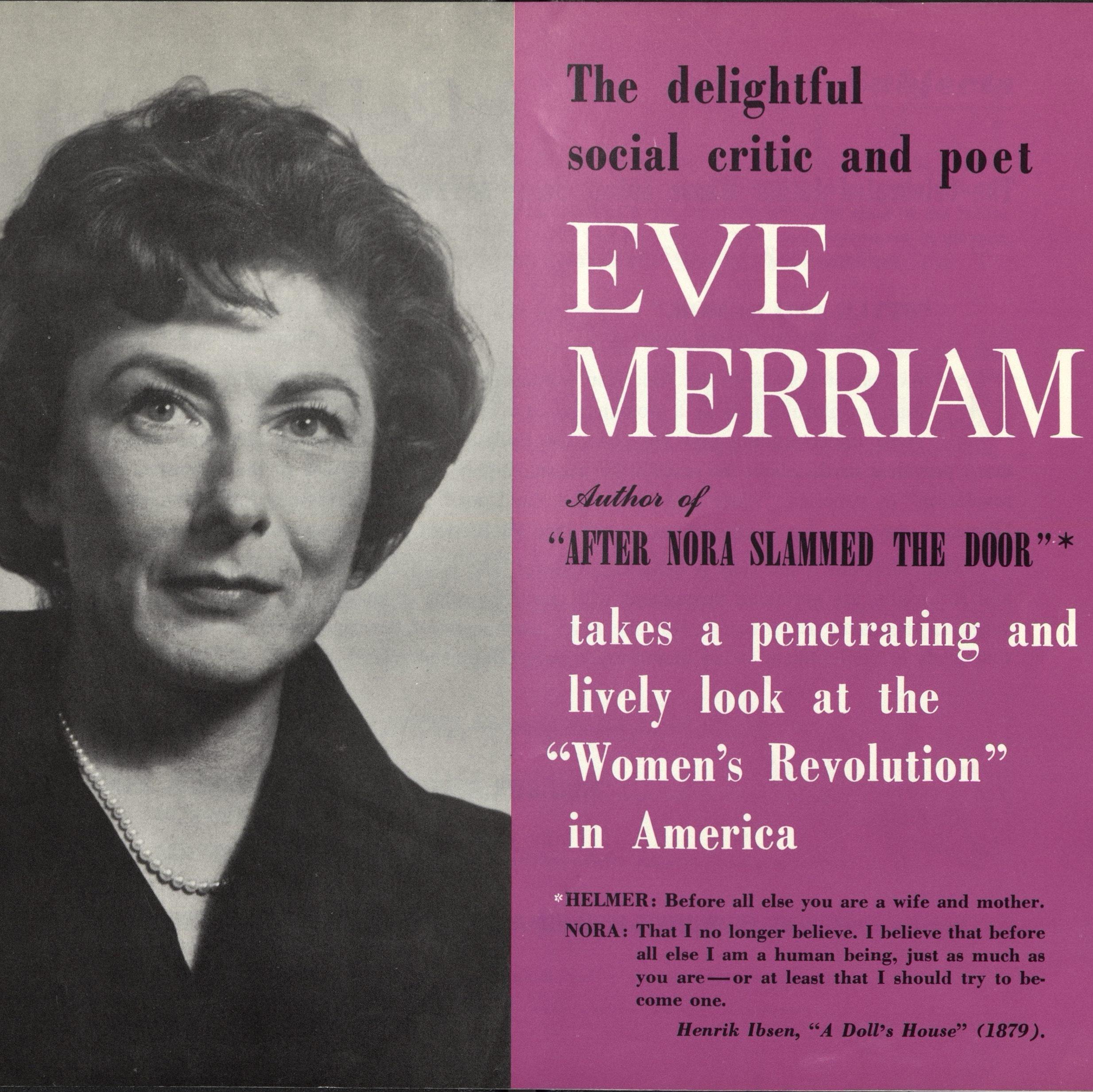 Brochure with Eve Merriam