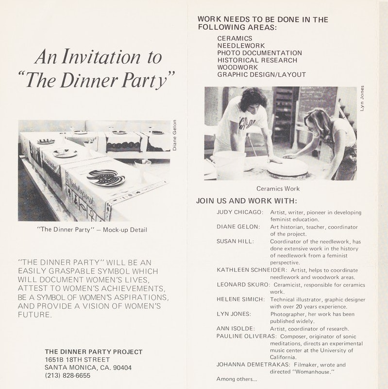 Brochure about the Dinner Party