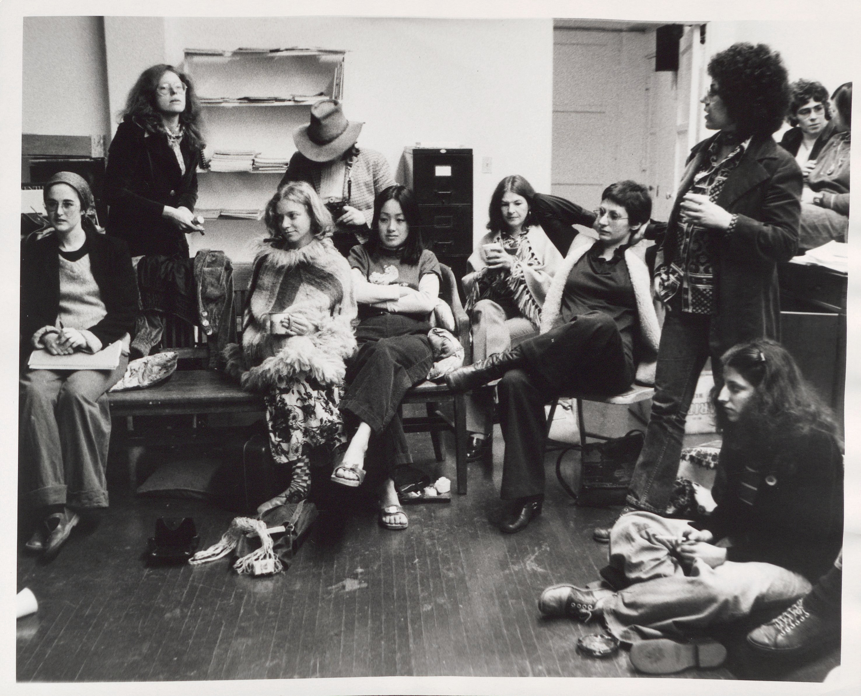 Judy Chicago and students